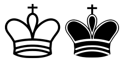 OnlineLabels Clip Art - Chess Tile - King