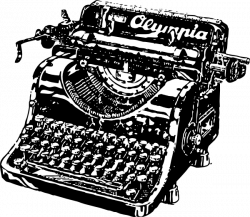 Old Fashioned Typewriter Clipart