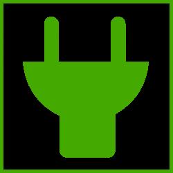 Clipart - eco green plug icon