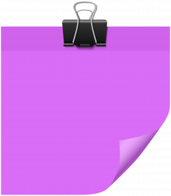 Sticky Note Purple PNG Clip Art - Best WEB Clipart