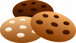 Three Flavors of Cookies - Free Clip Art