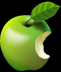 Bitten Apple Green Transparent Clip Art Image | Gallery ...