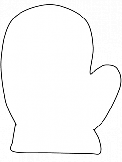 mitten coloring page - could be used as a template for applique ...