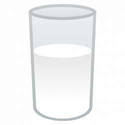 Glass of milk Icon   Noto Emoji Food Drink Iconset   Google