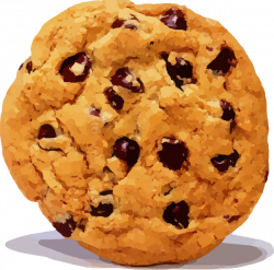 Chocolate Chip Cookie White Background Clip Art at Clker.com ...
