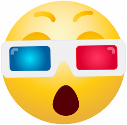 3D Glasses Emoticon PNG Clip Art - Best WEB Clipart