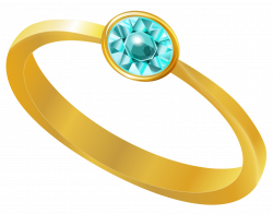 Golden Ring with Blue Diamond PNG Clipart | Gallery Yopriceville ...