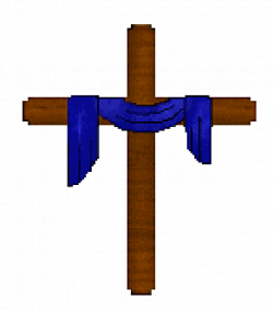 Purple cloth covered easter cross clipart transparent - Clip Art Library