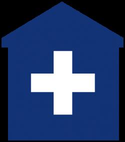 Primary Care Medical Home Blue Hospital Doctor Clip Art at Clker.com ...