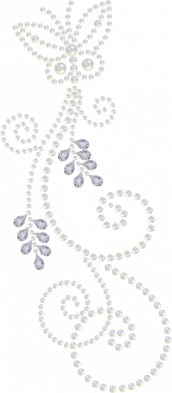 Another Pearl-and-Diamond clipart, nice swirls... | Artsy in the ...