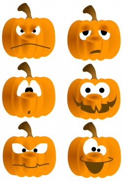28+ Collection of Funny Pumpkin Faces Clipart | High quality, free ...