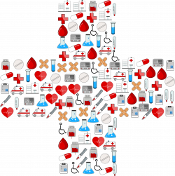 Clipart - Medical Icons Cross