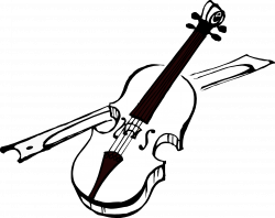 artfavor_violin_black_coloring_book-1969px.png (1969×1561) | Violin ...