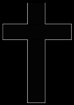 Clipart - Ireland Cross silhouette