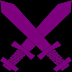 Purple Crossed Swords Clip Art at Clker.com - vector clip art online ...