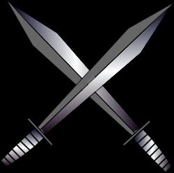 Cross Swords Clip Art at Clker.com - vector clip art online, royalty ...