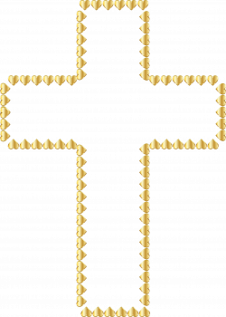 Golden Cross Hearts No Background by GDJ | komunia | Pinterest ...