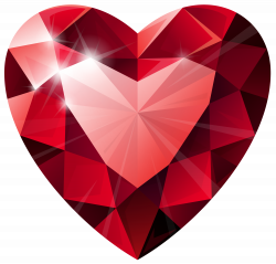 Diamond Heart Transparent PNG Clip Art Image | Red Heart Shaped ...