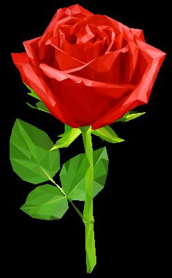 Crystal Red Rose Transparent PNG Clip Art Image   franzl   Pinterest ...