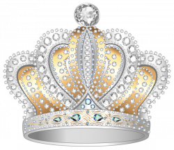 Silver Gold Diamond Crown PNG Clipart Image | Gallery Yopriceville ...