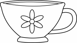 Clever Mug Black and White Clipart – Best Digital Clipart For You