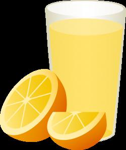 Glass of Orange Juice With Sliced Fruit - Free Clip Art