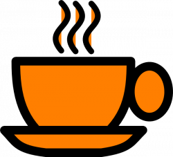Orange Coffee Mug Clip Art at Clker.com - vector clip art online ...