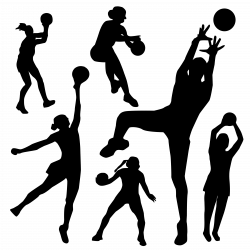 Clipart - Netball silhouette