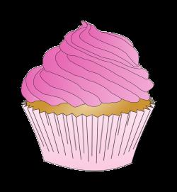 Clipart - Pink Cupcake