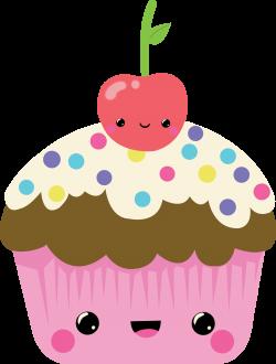 Cartoon Cupcakes Clipart (55+)