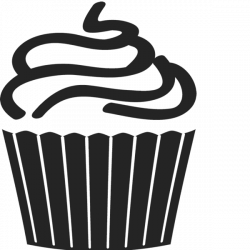 Swirl Frosted Cupcake Rubber Stamp | Food Stamps – Stamptopia