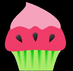 A origem dos Cupcakes   Watermelon cupcakes