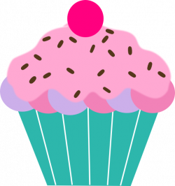 Cupcake With Sprinkles Clipart
