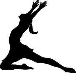 Clip Art Illustration of a Silhouette of a Ballet Dancer Lunging ...