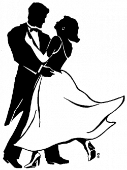 Ball Dancing Couple Clipart