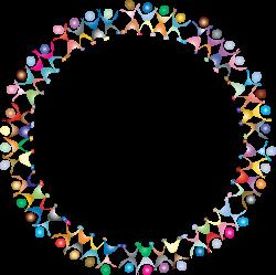 Clipart - Dancing People Circle. Prismatic 2