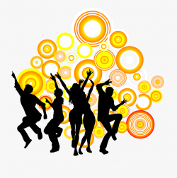 Silhouette People Dance Royalty-free Party Circle Clipart ...