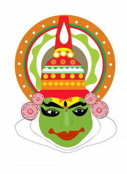 Its a mask inspired from an Indian dance form of Kerala - Kathakali ...