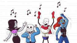 UT: Dance Party by Echoheartx on DeviantArt