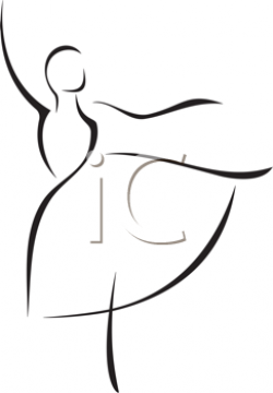 iCLIPART - Simple Illustration of a Dancing Ballerina ...