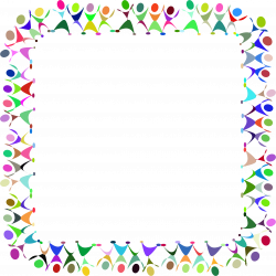 Clipart - Dancing People Square Prismatic