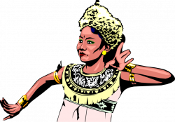 Indonesian Woman Performs Dance - Vector Image