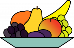 Clipart - fruit plate