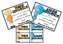 FREE posters and sorting cards for telling and asking sentences! | I ...