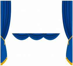Transparent Blue Curtains Decoration PNG Clipart | Gallery ...