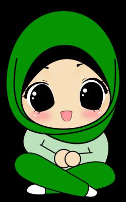 Fizgraphic Design & Printing: Freebies Doodle Muslimah Duduk Bersila ...