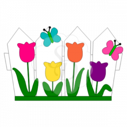 72a034e71a8ee085dcb71cdbfb8bedd8_fence-tulips-butterflies-fence-with ...