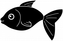 Fish Clip Art Black and White | Black Fish Silhouette | pattern ...