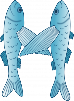 Clipart - Fish forming letter M