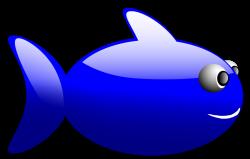 Fish | Free Stock Photo | Illustration of a cartoon blue fish | # 16806